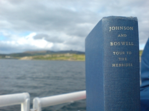 Johnson and Boswell approach Raasay